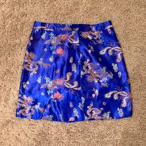 Skirts - Unique royal blue oriental inspired skirt